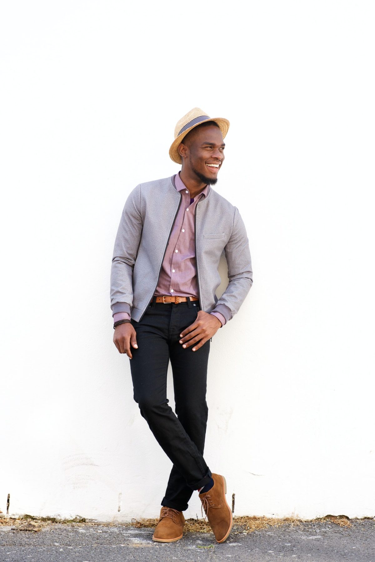 Smiling young african fashion model