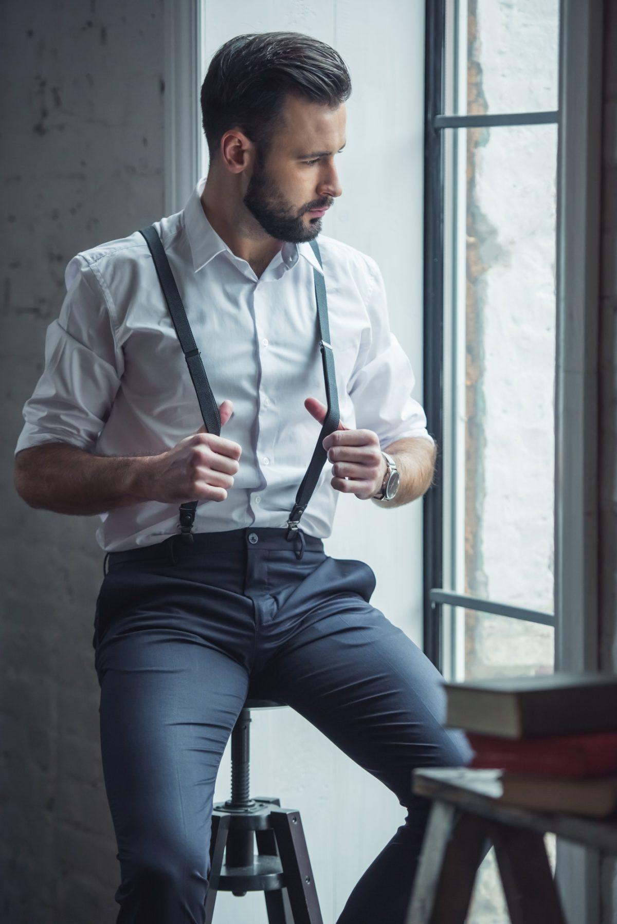 Stylish confident man